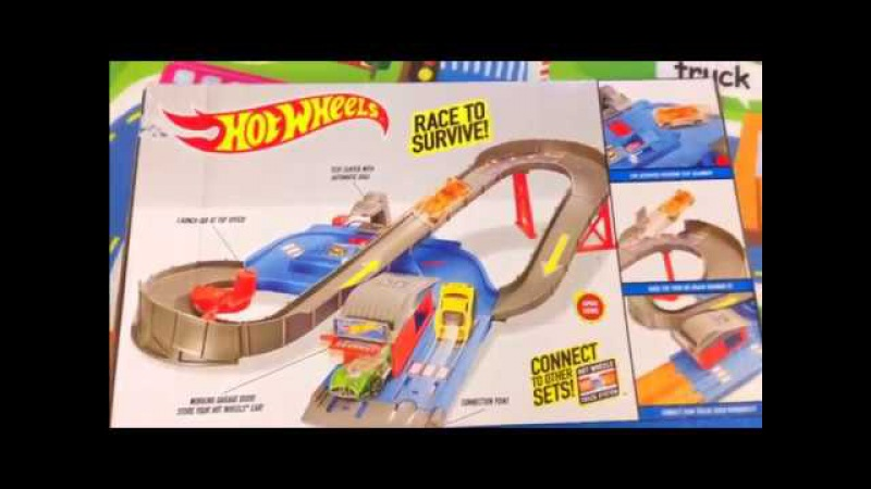 Hot Wheels City Speedway! Break Through CRAZY CURVES! Nazir playing Hot Wheels! KIDS FOR Video!