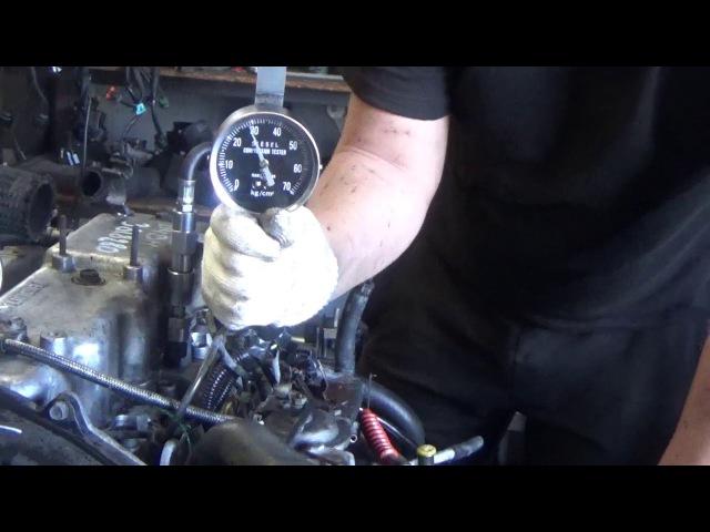 Проверка компрессии в двигателе D4BH 3818280 Starex мех-кое ТНВД