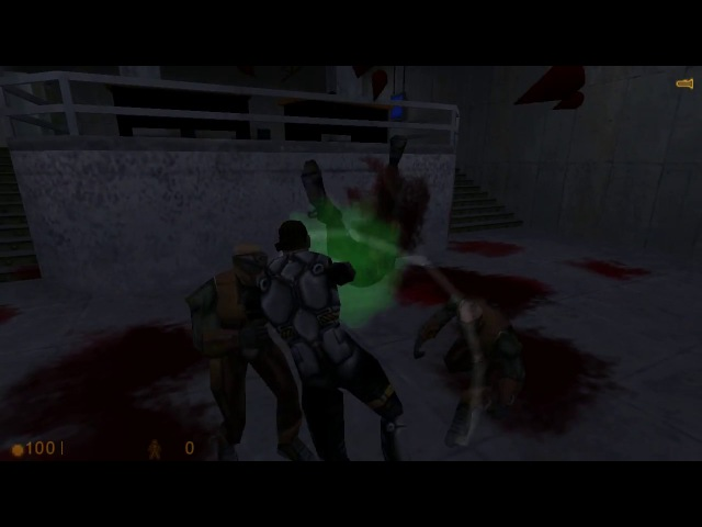 FIGHTING in Half-Life! Nice slasher ONI mod)