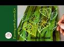 Watercolour - Bodhi Plant with Negative Painting Technique