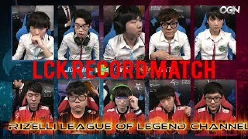 Lck Spring 2018 SKT - JAG Record Match Jag Teddy 1465 cs (135 Minute) 1. Week