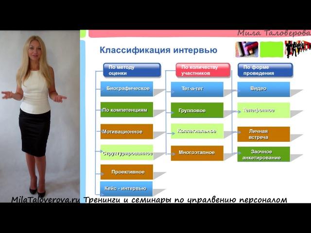 Мила Таловерова: Видео-курс Подбор персонала. Урок 11