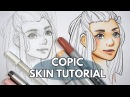 How to Colour Skin Faces With Copic Markers - Tutorial