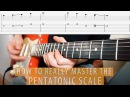 The best way to learn the PENTATONICS on the entire fretboard