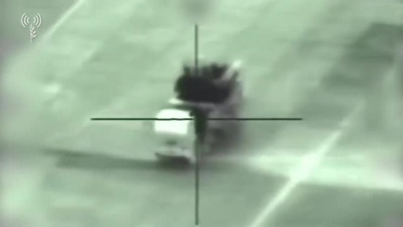 Кадры удара управляемая ракета уничтожила ЗРПК «Панцирь-С1» в Сирии