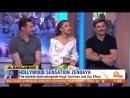 Зак, Зендая и Хью Джекман на передаче Sunrise в Сиднее, Австралия