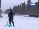 Очистка дорог от снега в Иркутском районе идёт полным ходом, Вести Иркутск
