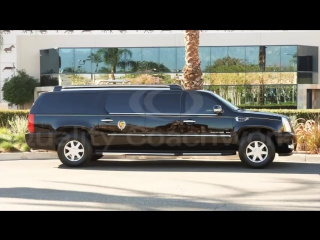 """2014 Cadillac Escalade ESV 33"""" Stretch with 7"""" Long Door and B6 Armored Limo Limousine"""