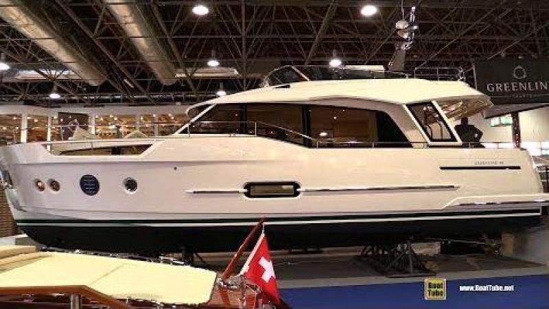 2018 Greenline 48 Hybrid Motor Yacht - Walkaround - 2018 Boot Dusseldorf Boat Show