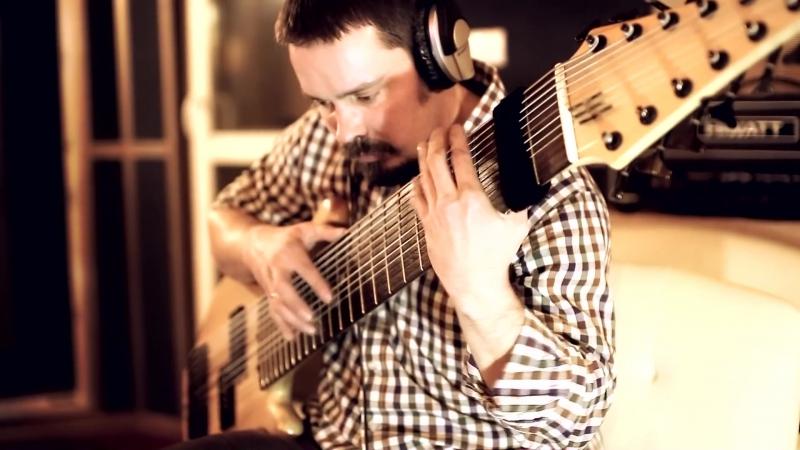 Студийная запись трека Pulse Of The Earth ¦ Уличный музыкант Василий Чернов ¦ 12 струнный БАС