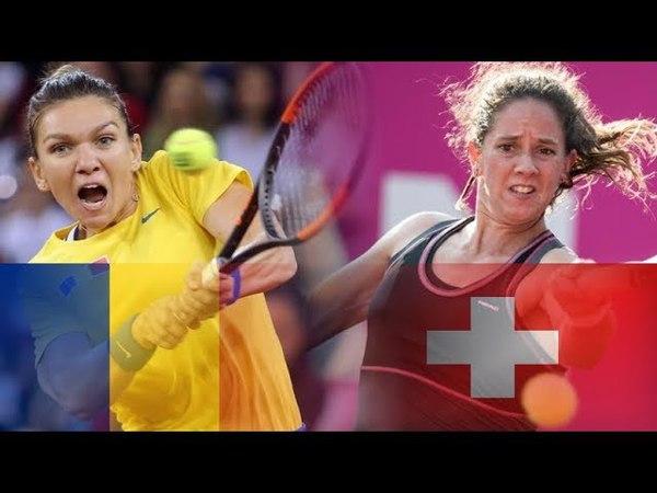 Simona HALEP vs Patty SCHNYDER Highlights FED CUP 2018