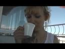 Она любит сперму и кофе ( cum sperm outdoors german balcony coffe swallow-sperm)
