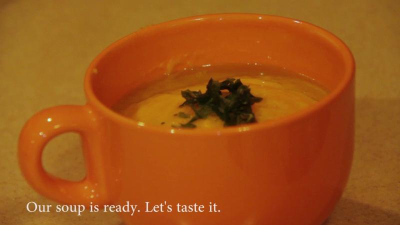 Pumkin cream soup