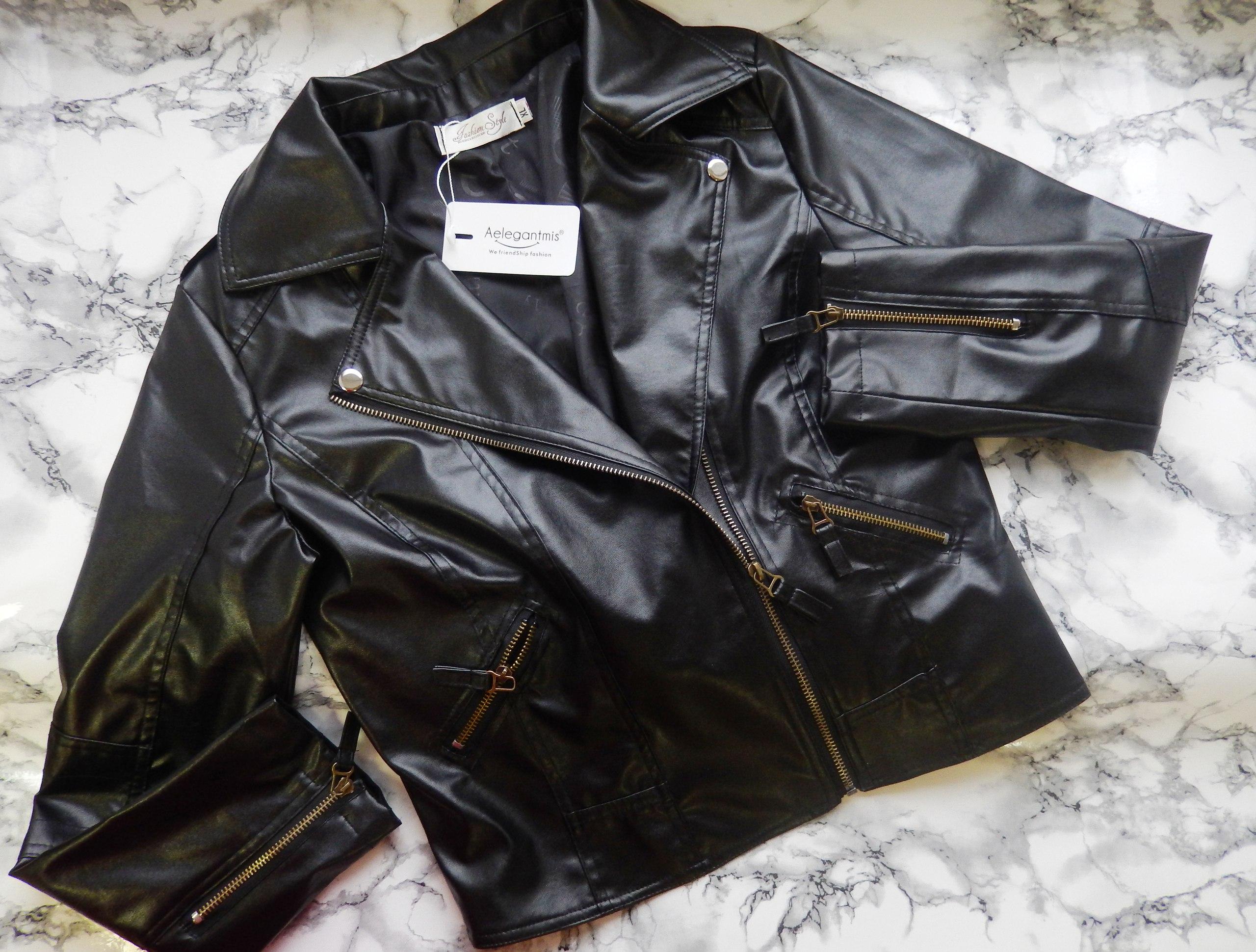 Обзор на очень бюджетную куртку косуху от Aelegantmis за 1 09617 руб фасон которой был и остается очень популярным и вр