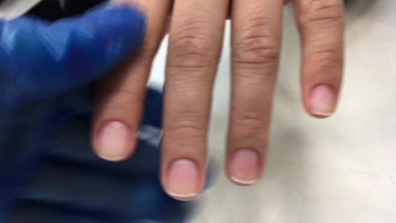 Julia Raksha: маникюр, покрытие гель-лаком втирка