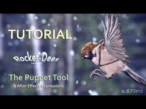 How To Animate a Flying Rocket-Dee with Adobe After Effects | Puppet Tool Animation Tutorial