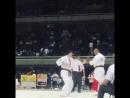 Игорь Загайнов выиграл свой первый бой Соперник сдался на 20 секунде 35th All Japan Weight Category Karate Championships