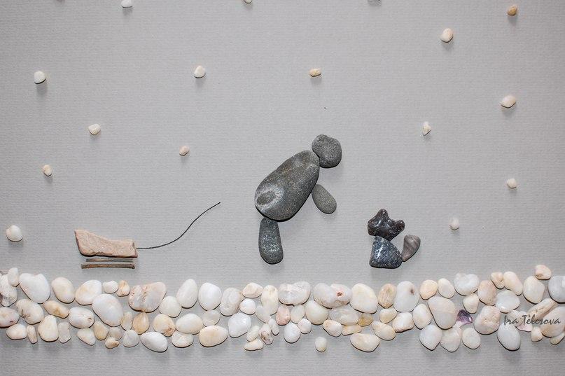 Каменные истории. Ирина Телесова. (картины из камней) 1Rsv1wiczLY