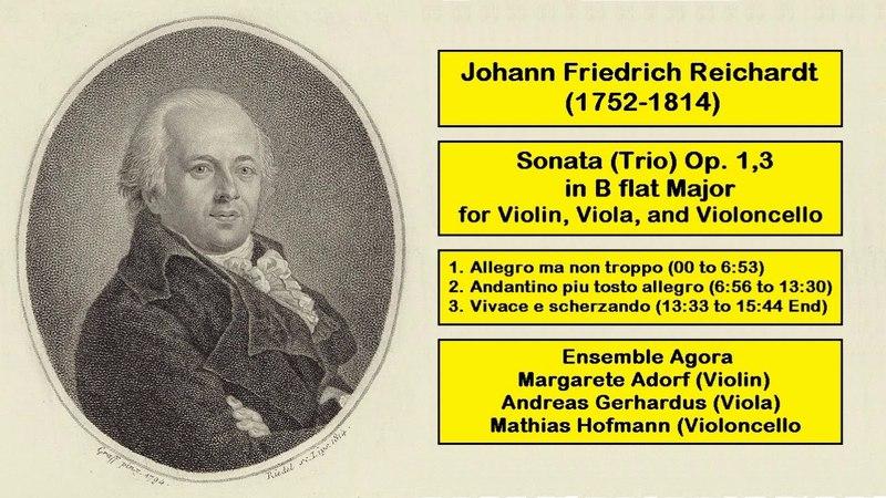Johann Friedrich Reichardt (1752-1814) - Sonata (Trio) Op. 1,3 in B flat Major