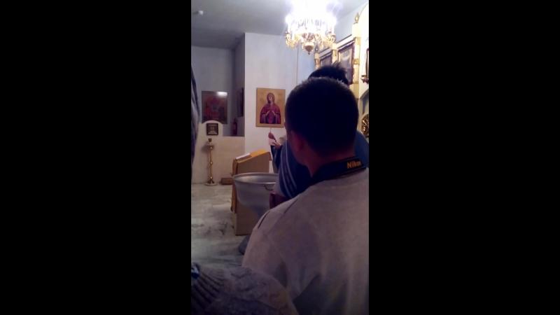 крестили Андрея 2 10 2016г