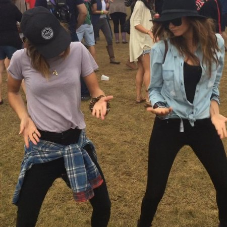 "Nina Dobrev on Instagram: ""ACL @iamjessicaszohr We dance when we want. Sometimes we mess up. We don't care. We love it."""