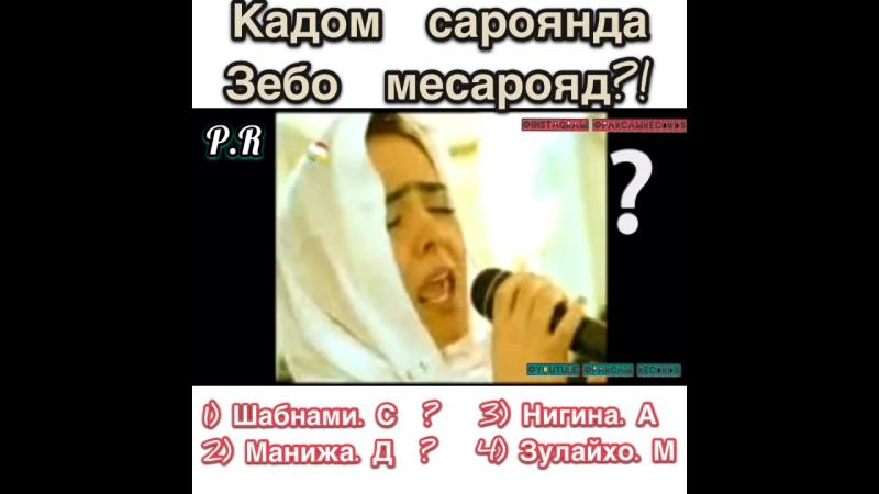 Шабнами Сураё | Манижа Давлатова | Нигина Амонкулова | Зулайхо Мамадшоева