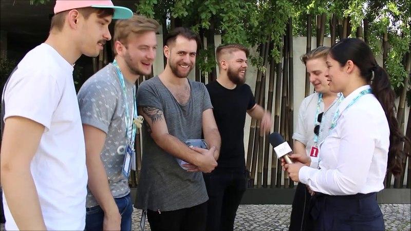 AWS - Viszlát nyár (Hungary 2018) - Interview at Eurovision 2018