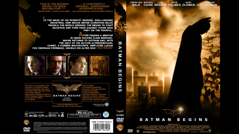 Бэтмен начало Русский Трейлер 2005