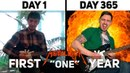 First Year Guitar Progress - Playing Metallica One for 1 Year (including Hammett solo)