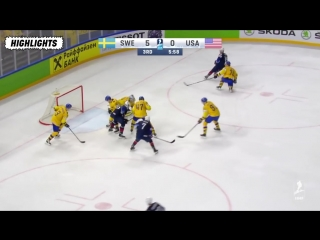 1/2 финала Швеция Сша Highlights- Sweden vs USA 19 мая 2018