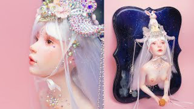 YUE Moon Goddess Making Process | Polymer Clay Sculpture