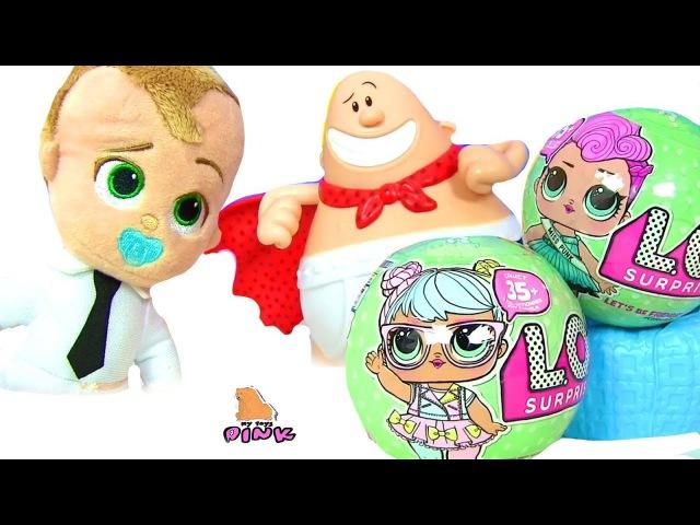 Boss Baby Босс Молокосос И Капитан Подштанники Спасают Детский Сад! Куклы ЛОЛ | Май Т ...