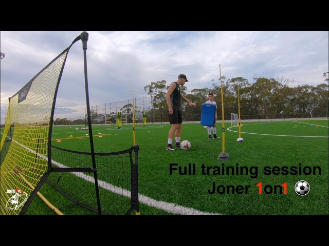 FULL soccer training session with young baller Aidyn | Joner 1on1 football training | Drills