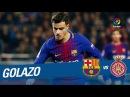 Golazo de Coutinho 5 1 FC Barcelona B vs Girona FC