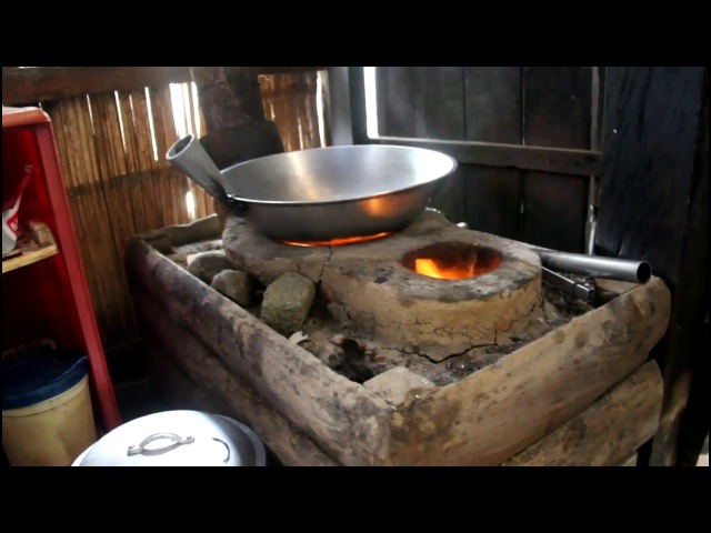 Frying Lumpia in Traditional Stove, Firewood