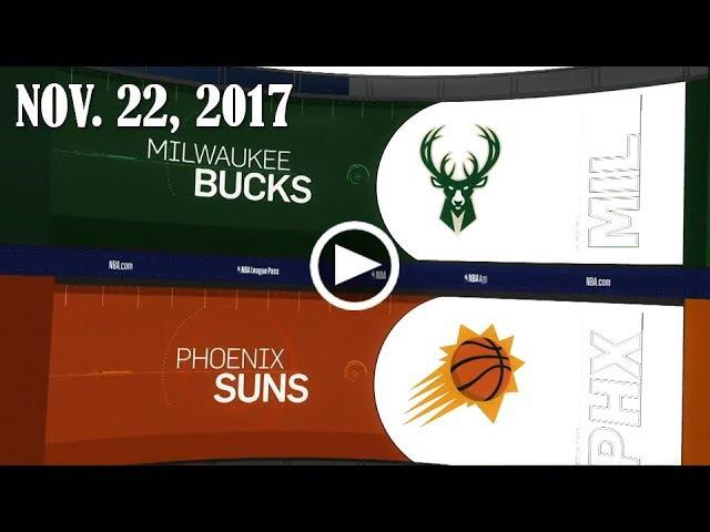 Обзор НБА Финикс Санз – Милуоки Бакс 23.11.17