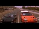 Брайан и Доминик испытывают Toyota Supra. Форсаж. 2001.