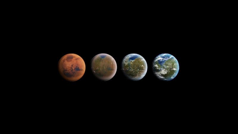 Тесла Роадстер в открытом космосе
