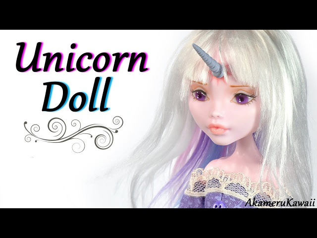 How to Unicorn Doll The last unicorn Lady Amalthea inspired Doll Repaint Tutorial