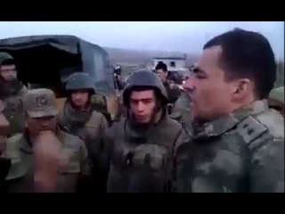 Turkish army beat a Syrian man (FSA) who rejected going to the frontline against Kurds in Afrin