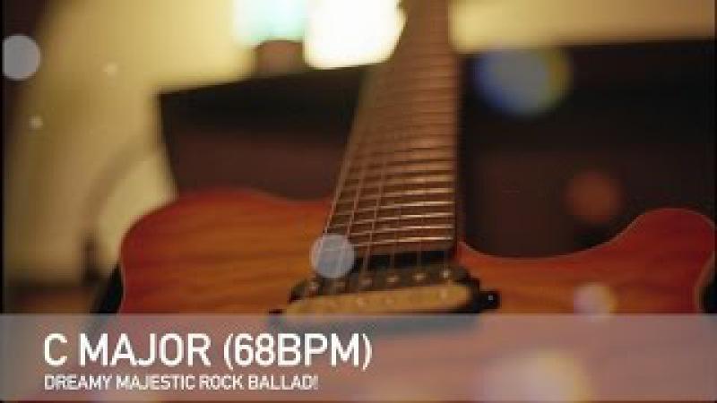Dreamy Majestic Rock Ballad Guitar Backing Track in G Major