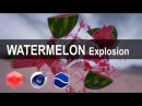 Explode a Watermelon with Realflow and Redshift render [CINEMA 4D TUTORIAL]