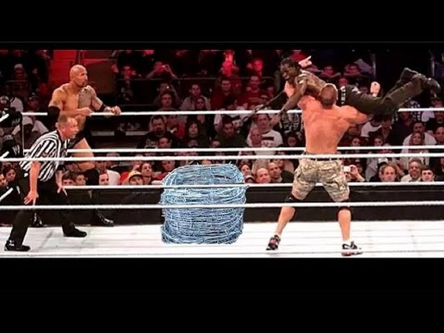 WWE John cena The Rock Vs The Miz R Truth Crazy Match Original