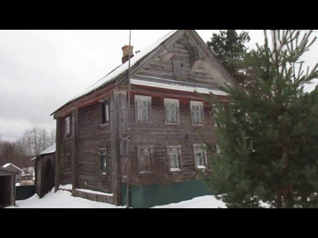 Карельское Залѣсье. Старые дома.