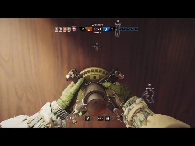 Fuze ace off one charge.