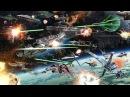 Космическое сражение на космических кораблях. Бой космических кораблей. Звездные войны.
