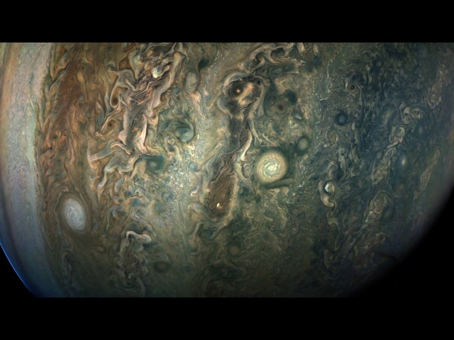 Juno's Perijove-09 Jupiter Flyby, Reconstructed in 125-Fold Time-Lapse