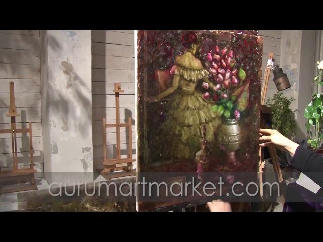 Видео урок живописи Танцовщица Мулен Руж