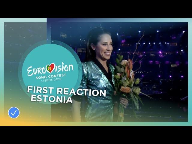 First reaction of Elina Nechayeva after winning Eesti Laul