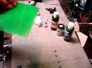 Lexan rc body marbling effect paint